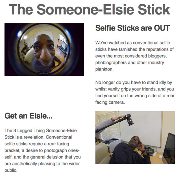 Did Someone Say Monopod? The Someone-Elsie Stick